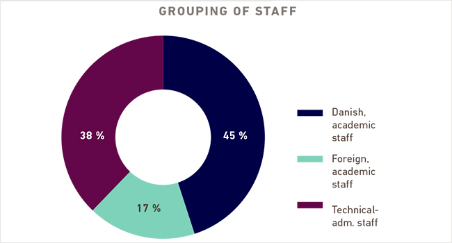 Staff at Aalborg University (figure from AAU Facts 2013)